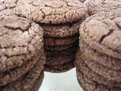 FLOUR & SUGAR: Tested Recipe: Old Fashioned Chocolate Cookies - Dutch Cocoa Cookies (Archway)