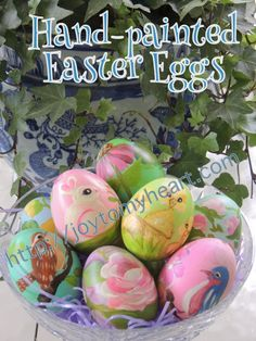 """I added """"My Favorite Project: Hand Painted Easter Eggs"""" to an #inlinkz linkup!http://joytomyheart.com/my-favorite-project-hand-painted-easter-eggs/"""