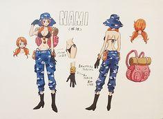 One piece: Heart of gold Nami One Piece Manga, One Piece Movie 7, One Piece Robin, One Piece Drawing, Nami One Piece, Character Sheet, Character Concept, Concept Art, Zoro
