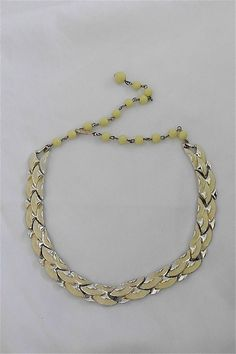 Vintage Coro Yellow Choker/Necklace by DelicateCreations on Etsy