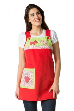 Pinafore Apron, Lolita Dress, Sewing Projects, Couture, Fox Terrier, Outfits, Dresses, Aprons, Geronimo