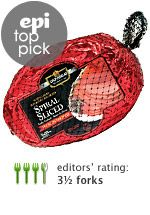 Epicurious best supermarket ham -- Carando Hickory Smoked Spiral Sliced Bone-In Ham ($1.89 per pound)