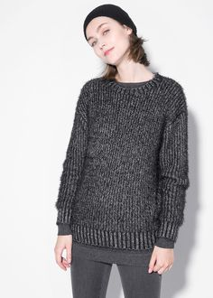 Fluffy flecked sweater