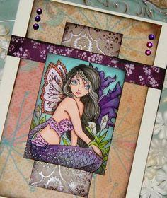 Sweet Pea Mermaid Fairy by thedarkmermaid - Cards and Paper Crafts at Splitcoaststampers