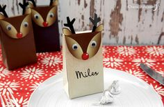 Make reindeer gift bags using Sizzix Big Shot - AD - Everyday Dishes & DIY