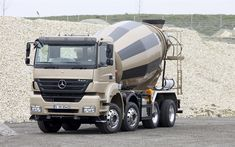 Download wallpapers Mercedes-Benz Axor, 4k, construction vehicles, concrete mixer, concrete transportation, LKW, construction, new trucks, Mercedes