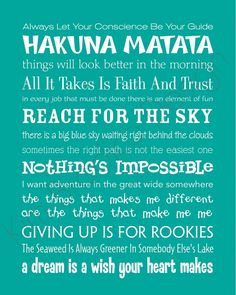 Disney Inspirational Movie Quotes  disney girl from the start