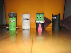 toilet paper tube Halloween