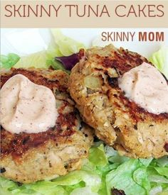 Skinny Tuna Cakes with Chipotle Mayo. Only 112 cals and 2 grams fat!