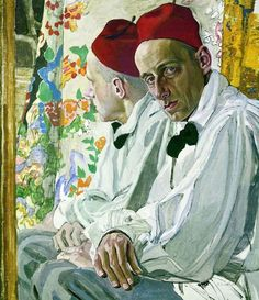 """"""" Alexander Golovin Portrait of Vsevolod Meyerhold, Tempera on panel, 80 x 67 cm. Petersburg Museum of Theater and Music Art. Vsevolod Meyerhold was a Russian theatre director, actor and theatrical. Watercolor Artists, Artist Painting, Painting & Drawing, Russian Painting, Russian Art, Dorian Grey, Document Iconographique, Leo Tolstoi, Grafic Art"""