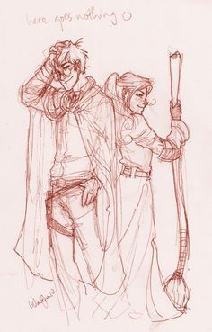 harry and ginny by burdge bug, harry potter Fanart Harry Potter, Harry Potter Drawings, Harry Potter Love, Harry Potter Universal, Harry Potter Fandom, Harry Potter World, Ginny Weasley, Harry Et Ginny, Hogwarts