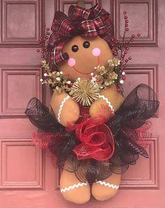 Gingerbread Girl Wreath Christmas Wreath | Etsy