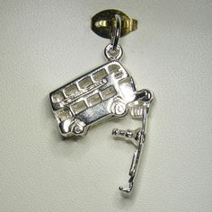 Buy Double Decker Bus (movable) Charm (chr-0540) online at Chain Me Up