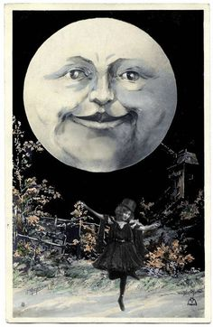 Graphics Fairy, Luna Moon, New Year Postcard, Moon Illustration, Paper Moon, Moon Pictures, Man On The Moon, Sun And Stars, Nouvel An