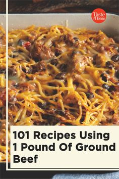 Here's what to do with a pound of ground beef so it never gets boring!