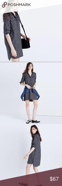 Madewell daywalk shirtdress in hilldale plaid Excellent condition, no flaws to note Madewell Dresses Long Sleeve