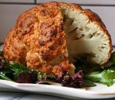 Spicy Whole Roasted Cauliflower. #purewowrecipes