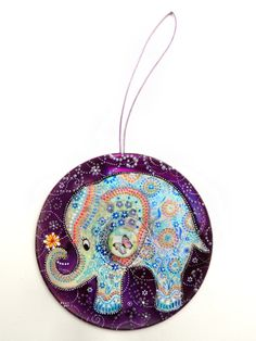 White elephant Decor purple decor little elephant by AlpinoCat