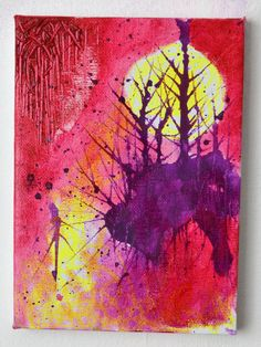 New Gothic Psychedelic Landscape Art by ShelleyJamaineArt on Etsy