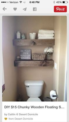 Diy $15 Chunky Wooden Floating Shelves