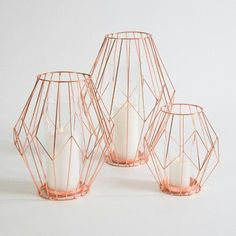 love the open wire cages for centerpieces