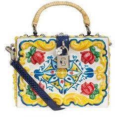 Dolce & Gabbana Majolica Padlock Top Handle Bag