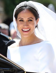 dailymail: Wedding of Prince Harry and Meghan Markle, Windsor Castle, May new Duchess of Sussex in a gown by Givenchy and Queen Mary's Filigree Tiara, on loan for the Queen Prince Harry Et Meghan, Meghan Markle Prince Harry, Princess Meghan, Harry And Meghan Wedding, Meghan Markle Wedding, Meghan Markle Ring, Prince Harry Wedding, Princesa Diana, Lady Diana