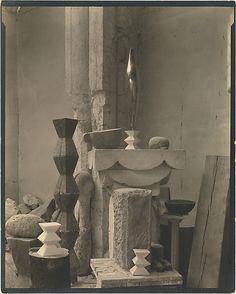 Brancusi (Romanian sculptor) - Studio (ca. 1920) / by Edward J. Steichen