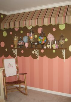 Oh em gee! Like, a candy boutique as a baby nursery!