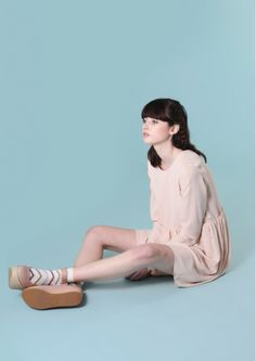 Back Button Smock Dress Pale Pink// but does it come in black? :)