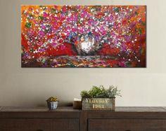 Arte gran pintura al óleo de la pared arte por ContemporaryArtDaily