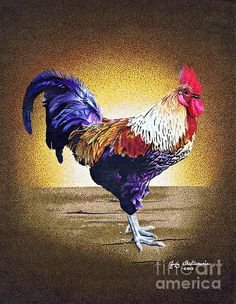 My pointillism version of a rooster.