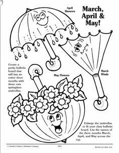 RA Ideas: April Minion Bulletin Board. April showers bring