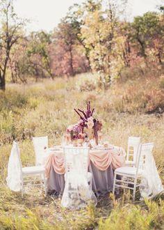 Lilac & Peach: Fall Wedding Inspiration // Michelle Leo Events, Alixann Loosle Photography