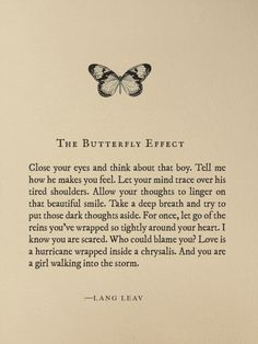 The Butterfly Effect by Lang Leav