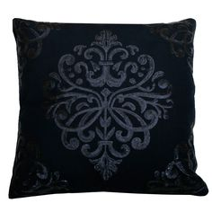 Sequin Trellis Pillow in Navy | Dorm Room Decor | OCM.com