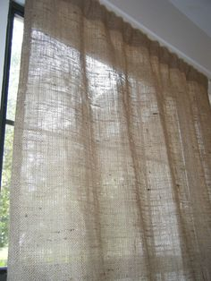finally found a place on etsy with affordable burlap curtains for dining room - Love!