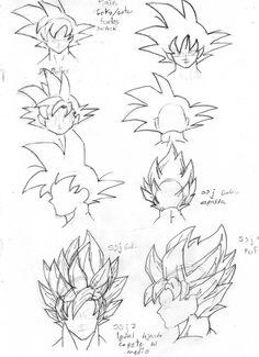 Goku Hair positioning tutorial. #SonGokuKakarot