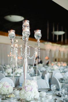 Art Deco wedding. 1920's inspired candelabra.