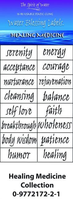 Labels healing medicine