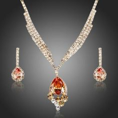 Cheap jewelry sets, Buy Quality drop jewelry sets directly from China drop set Suppliers: AZORA Gold Color Champagne Cubic Zirconia Pendant Necklace and Drop Earrings Jewelry Sets Prom Jewelry, Trendy Jewelry, Cheap Jewelry, Simple Jewelry, Crystal Jewelry, Jewelry Sets, Sterling Silver Jewelry, Fashion Jewelry, Drop Necklace
