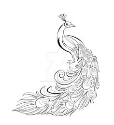 Peacock Motif Vector is part of Peacock drawing - So here's a finished lineart of a motif I'm doing for my portfolio website in my Web Design class It's going to be 1 of 5 other motif's that shall appe Peacock Motif Vector Peacock Tattoo, Peacock Drawing, Peacock Outline, Peacock Sketch, Tattoo Outline, Outline Drawings, Motif Vector, Emoji Coloring Pages, Tattoos With Kids Names