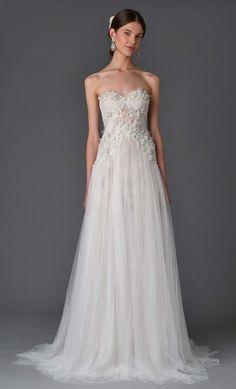 Wedding dress idea; Featured Dress: Marchesa