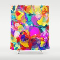 Flower carpet(56) Shower Curtain #showercurtain #society6 #flowers #purple #maryberg #purple #textile #homedesign #colorful #purple #red #contemporary