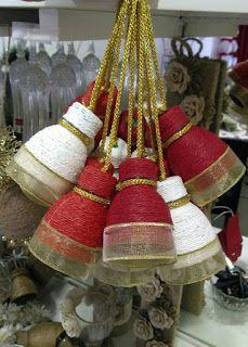 Recicla botellas de plástico y haz hermoso adornos para tu casa ~ lodijoella Reuse Plastic Bottles, Plastic Bottle Crafts, Twine Crafts, Decor Crafts, Christmas Crafts, Xmas, Christmas Ornaments, Christmas Centerpieces, Christmas Decorations