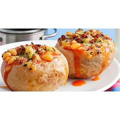 All our best stuffed baked potato recipes from easy stuffed potatoes with beans and cheese to Italian bolognese potatoes and Mexican-style jacket potatoes with salsa.