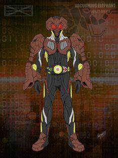Zero One, Kamen Rider Series, Manga Artist, Power Rangers, Elephant, Anime, Fan Art, Cartoon, Superhero