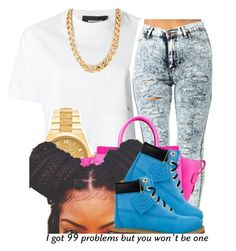 """""""."""" by trillest-queen ❤ liked on Polyvore featuring Dsquared2, Michael Kors, CÉLINE and Timberland"""