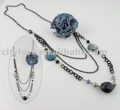 Jean necklace - Collar de jean