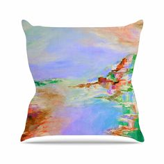 KESS InHouse JD1110AOP03 18 x 18-Inch 'Ebi Emporium Something About the Sea 3 Lavender' Outdoor Throw Cushion - Multi-Colour -- Read more at the image link. #GardenFurnitureandAccessories